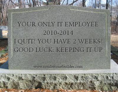 Your IT Employee Quits