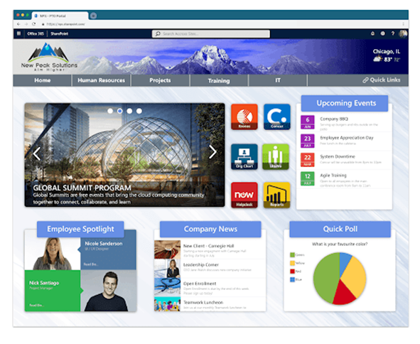 SharePoint intranet example 2