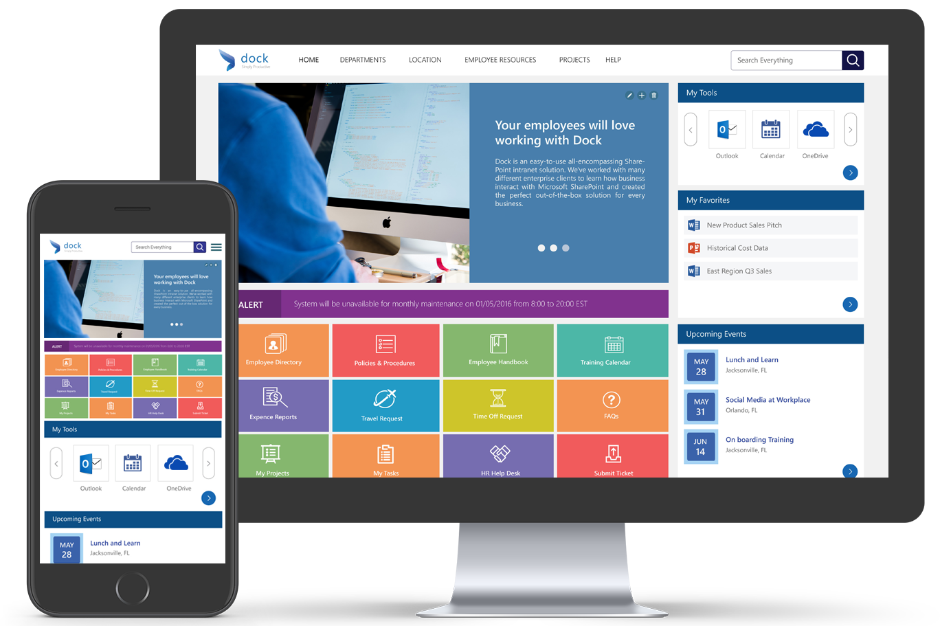 Sharepoint intranet example