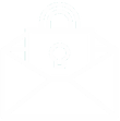 email encryption white icon