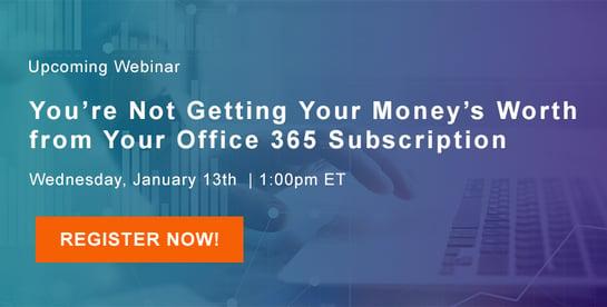 Value of Office 365 webinar
