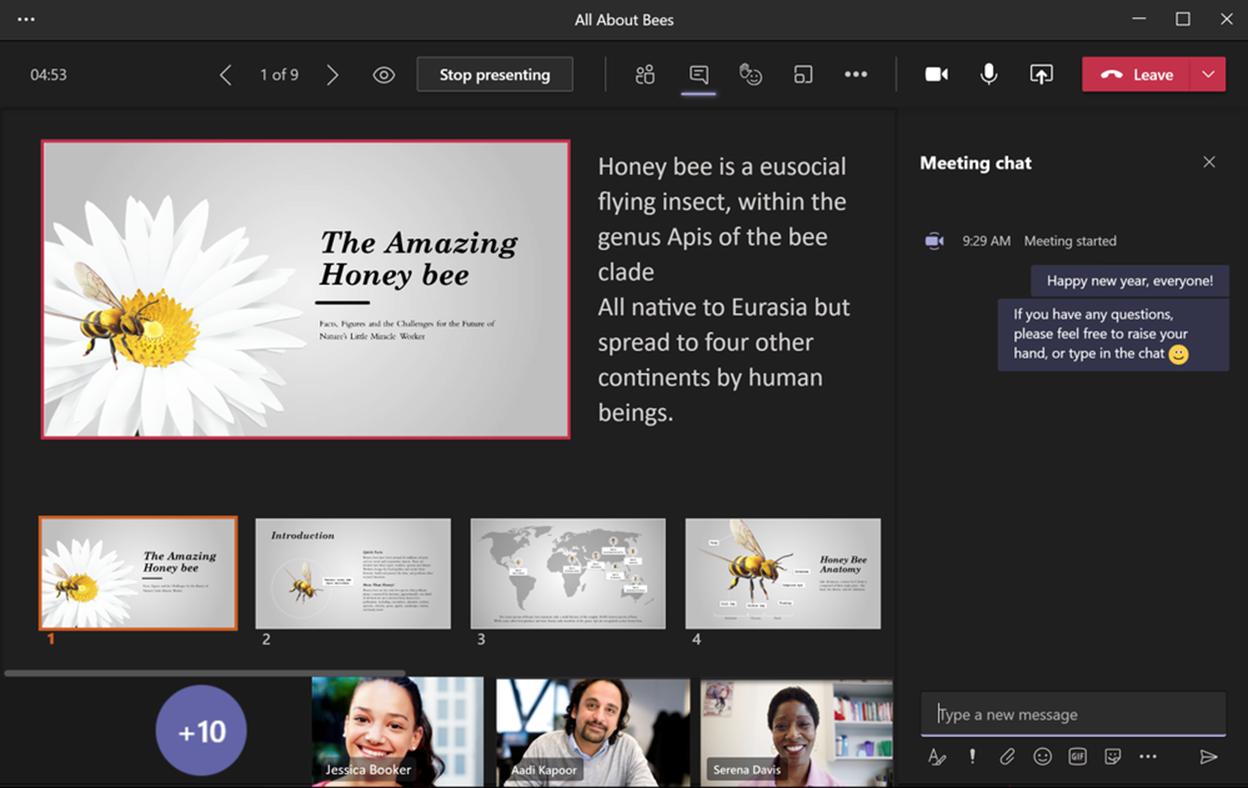 webinar presentation mode